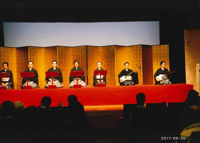 第77回常磐津節公演会の様子